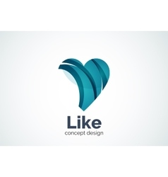 Love heart logo template vector image