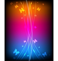 luminous background vector image