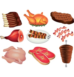 Meat set vector