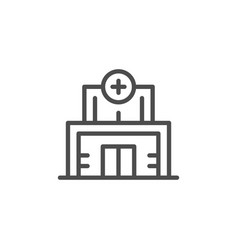 medical clinic line icon vector image