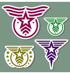 Military style logo set vector image