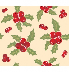 mistletoe background vector image