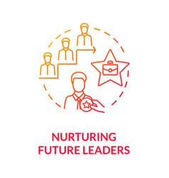 Nurturing future leaders red gradient concept icon vector