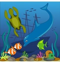 ocean bottom vector image