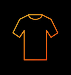 Orange t-shirt icon outline tshirt sign vector