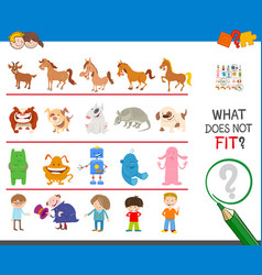 Picture that not fit in row educational task vector