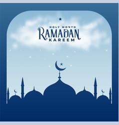 Ramadan kareem season islamic mosque background vector