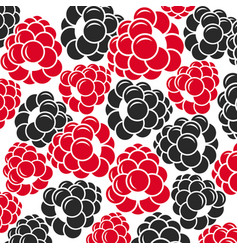 Raspberries and blackberries vector
