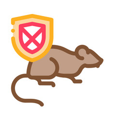 rat ban icon outline vector image