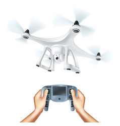realistic drone vector image