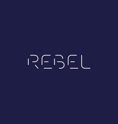 Rebel logo vector