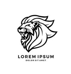 Roaring lion logo king download vector