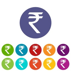 Rupee flat icon vector