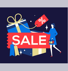 sale concept - flat design style colorful vector image