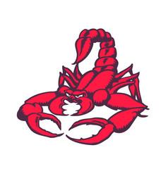 Scorpion cartoon character vector