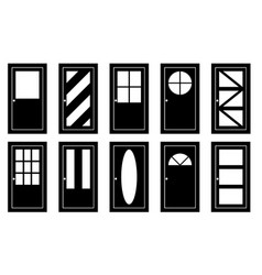 Set of different doors vector