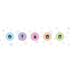 Shelter icons vector