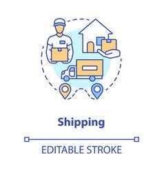 shipping concept icon parcel shipment idea thin vector image