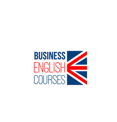 sign for business english courses vector image
