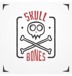 Skull bones logo vector