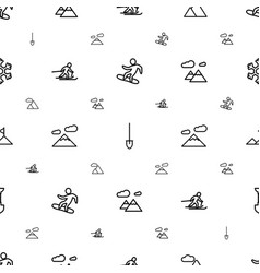 Snow icons pattern seamless white background vector