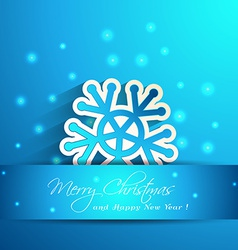 Snowflake with shadow effect winter vector