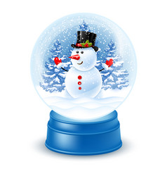 snowglobe with snowman vector image