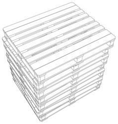 Stack of pallets vector