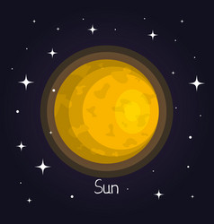 Sun in space element of solar system star vector