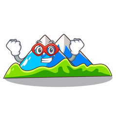 Super hero miniature mountain in the character vector
