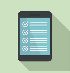 tablet actions icon flat style vector image
