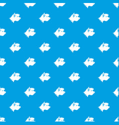 terrier dog pattern seamless blue vector image vector image