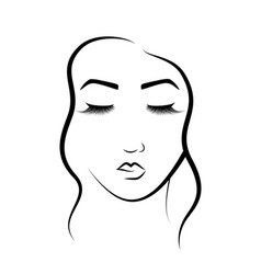 The face of a beautiful girl logo for beauty vector