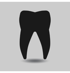 Tooth silhouette vector