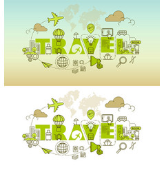 Travel website banner design concept vector