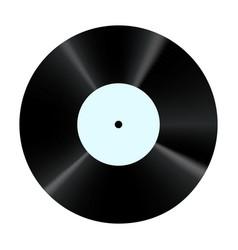 Vinyl record retro sound carrier plate for dj vector