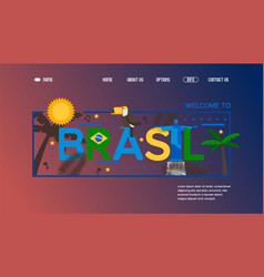 web banner for brazil poster travel southern vector image