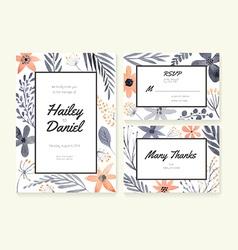 Wedding Cards Collection vector