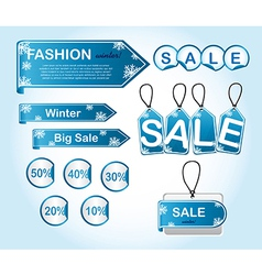 winter tags vector image