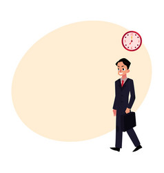 Young ambitious promising smiling businessman in vector