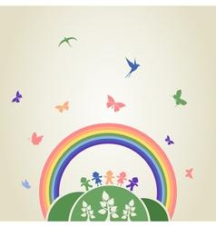 Children rainbow vector image vector image