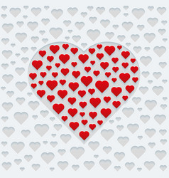 design for valentines day greeting card or vector image vector image