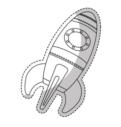 space rocket vehicle icon vector image vector image