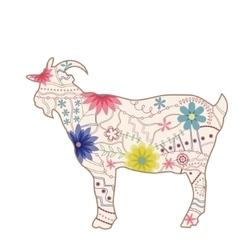 vintage goat vector image
