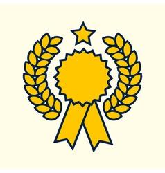 Winner badge symbol golden color design vector image vector image