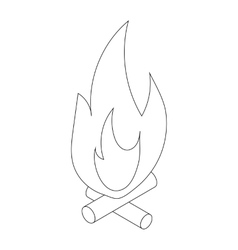 Campfire icon isometric 3d style vector image