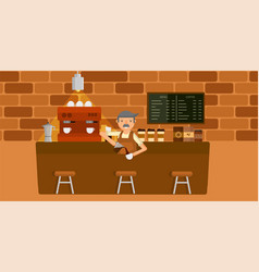coffee shop graphic vector image