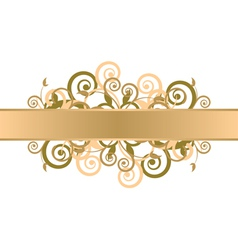 gold floral background vector image