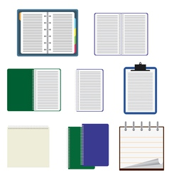 Notebooks vector image