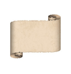 Old scroll paper vector image vector image